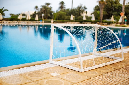 goal for playing water polo Stock Photo
