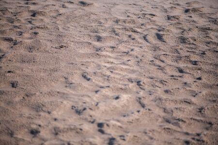 Défocaliser le sable abstrait. Texture de la plage de sable sur la station balnéaire tropicale Banque d'images