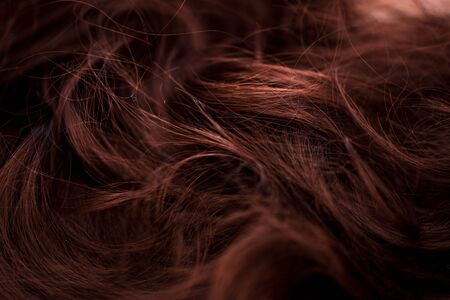 Background concept for a barber or beauty salon natural brown hair or wig