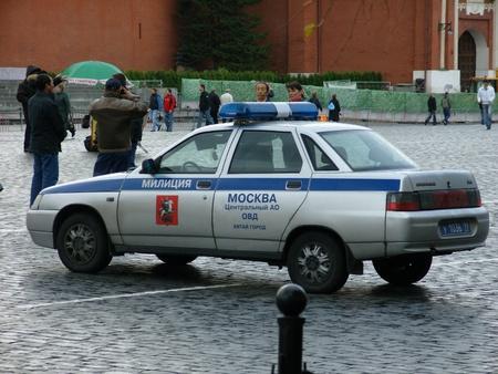 red square moscow: La polic�a de Mosc� coche de la Plaza Roja de Mosc�