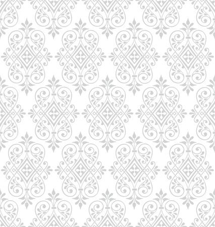 Klassiek barok behang achtergrond. Naadloze vector patroon.