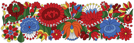 europe eastern: Hungarian Embroidery Pattern traditional folk ornament