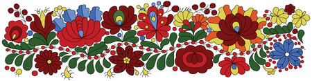 Hungarian Embroidery Pattern traditional folk ornament