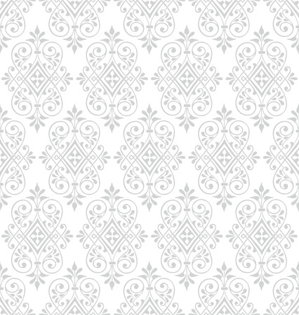 Classic baroque wallpaper background. Seamless vector pattern.