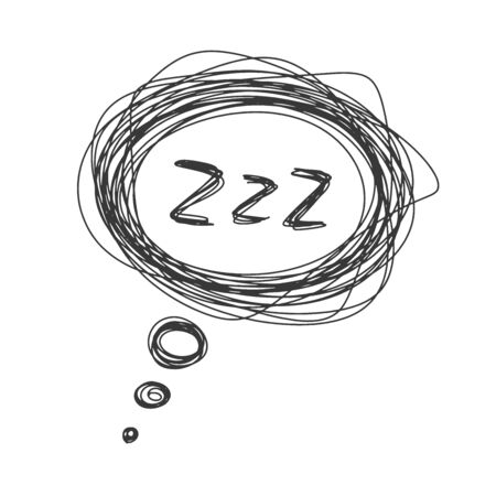Sleep ZZZ bubble icon. Vector concept of bad dream and nightmares