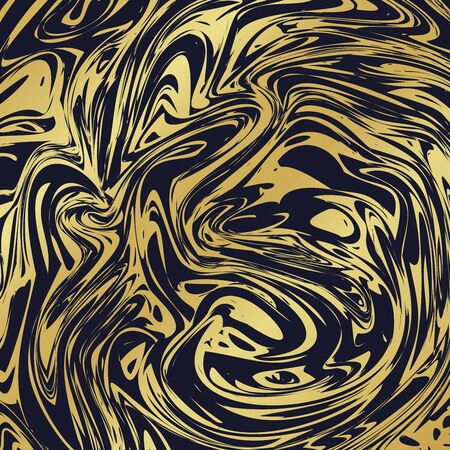 Black marble texture with golden streaks. Vector gold marble background as greeting card, wallpaper, social media post template. Luxury golden marble texture vector EPS 10