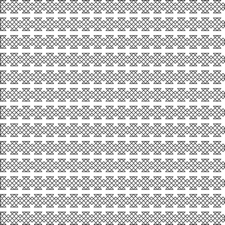 Vector outline seamless pattern. Modern stylish texture. Monochrome geometrical pattern. Tile squares in celtic cross style.