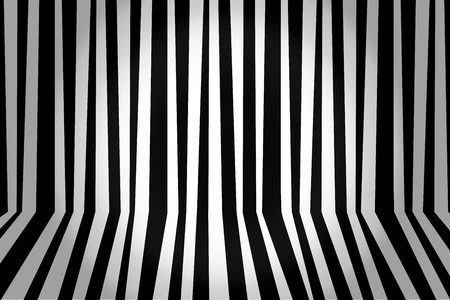 Monochrome background striped room in black and white. Vector illustration. Vector Illustration