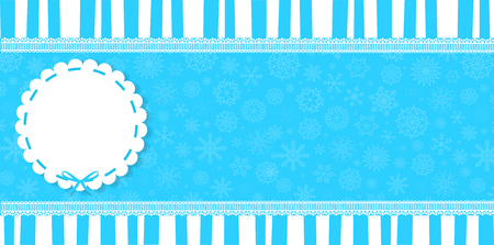 Christmas wrapper template design.