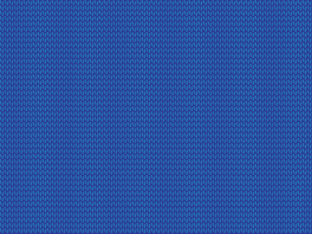 Blue knitted fabric background. vector illustration, template with space for text.