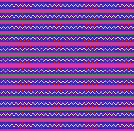 Cute seamless festive template with pink, blue and violet zigzag striped pattern. Vector illustration, print, banner, card for design. Trendy seamless zig zag print.