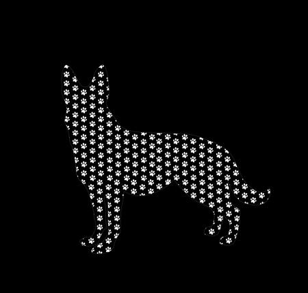 Nahtloses Muster Der Hundetatzen. Einfarbiger Hintergrund Des