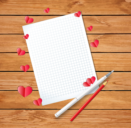 love letter background template