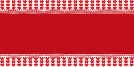 Festive template with space for text on red and white hearts vector illustration Illustration