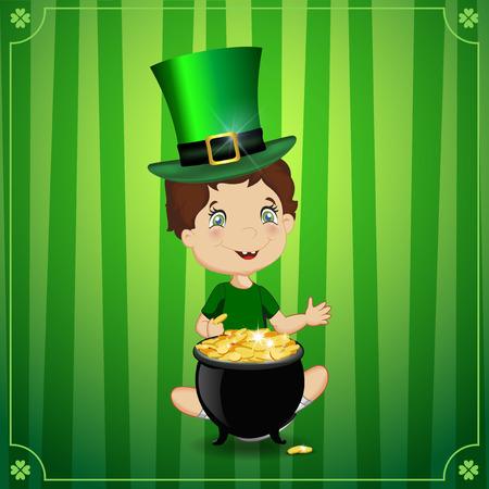 Saint Patrick's day vector cartoon illustration