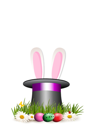 Happy Easter clip art for greeting card