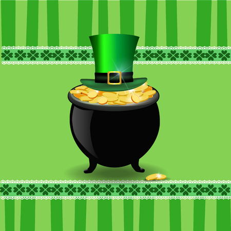 Saint Patricks Day card design Illustration