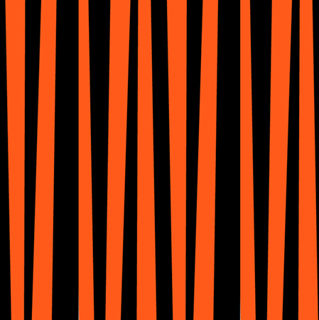 Abstract vertical striped pattern. Orange and black print. Background for wallpaper, web page, surface textures. Vector illustration, banner, poster, template for halloween card, scrapbooking Ilustração