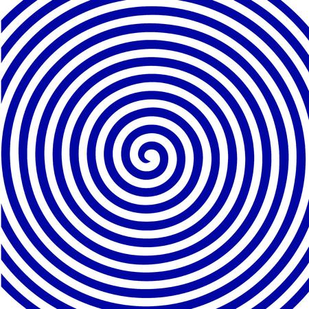 White blue round abstract vortex hypnotic spiral wallpaper pattern design Illustration
