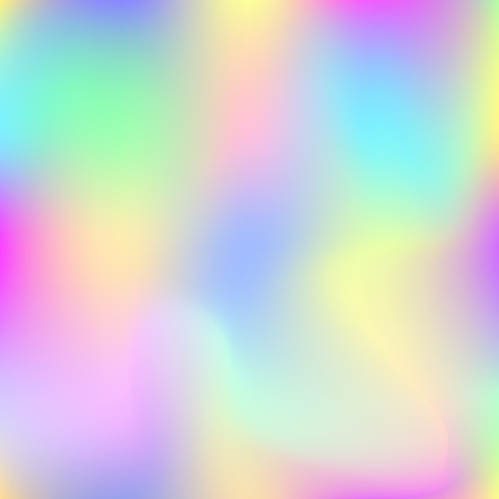 Hologram abstract background, trendy gradient backdrop with hologram, retro style. Iridescent graphic template for banner, flyer, cover design, mobile interface, web app. Illustration