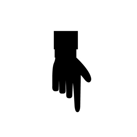 Hand Gesture Of Pointing Finger Icon Illustration Of Businessman