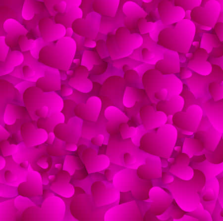 Valentine love hearts background or vector texture Illustration