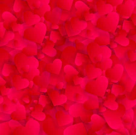 Valentine love hearts background or vector pattern Illustration