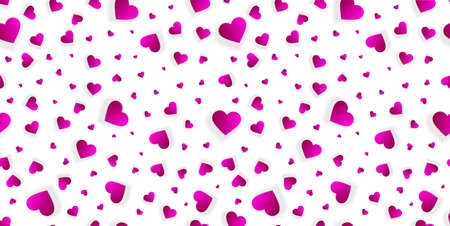 Valentine heart seamless background or pattern 3d