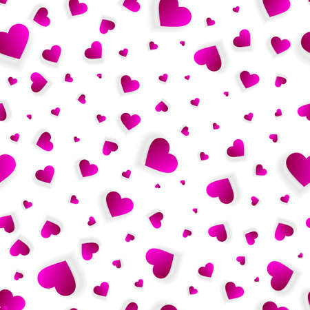 Valentine hearts seamless background or 3d pattern
