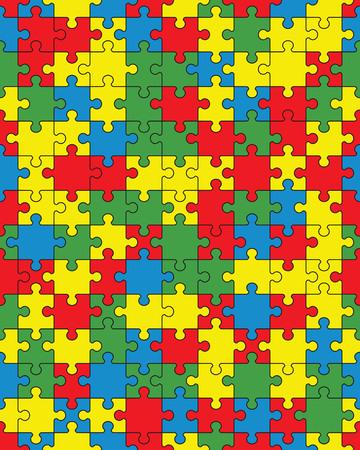 Séparez les pièces du puzzle coloré, illustration transparente