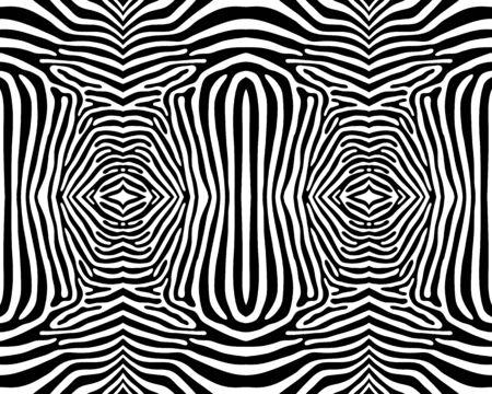 Illustration du motif zébré sans couture en noir et blanc