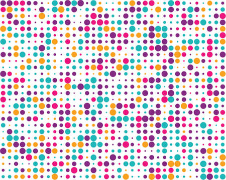 Pattern with random colorful dots, Seamless background Ilustrace