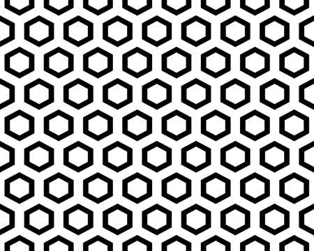 Seamless geometric pattern with hexagons on a white background