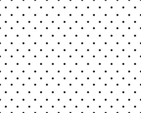 Seamless pattern of black circles on a white background