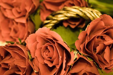 filtered: imagen Rosas rojas efecto filtrada Foto de archivo