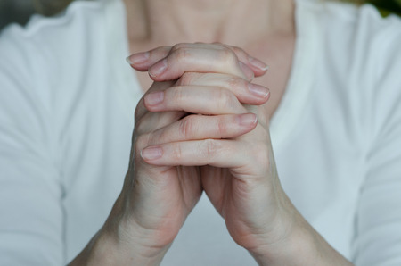 hands with pray gesture photo