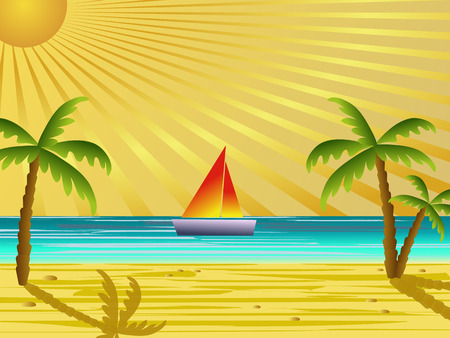 holiday summer background illustration Vector