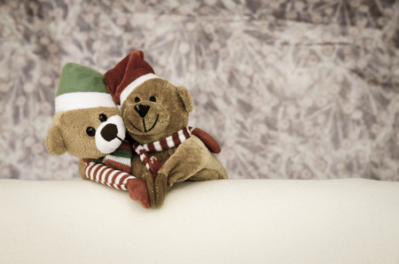 beautiful christmas concept with  bears Stock Photo