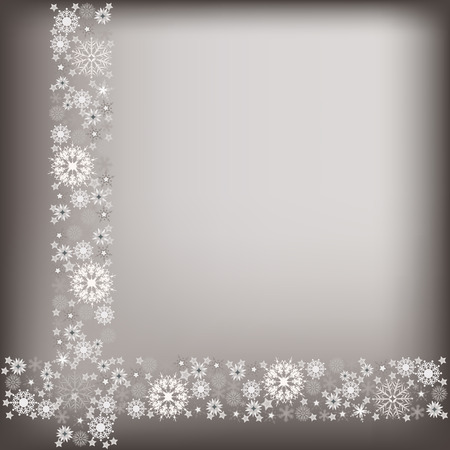christmas greeting card with gray snowflake adorn