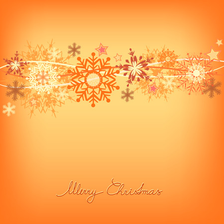orange snowflake background illustration Vector