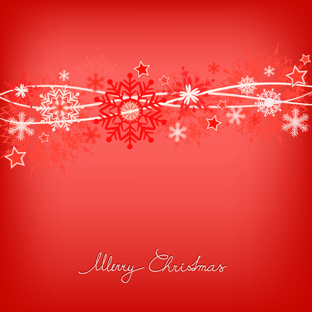 red christmas snowflake background illustration Vector