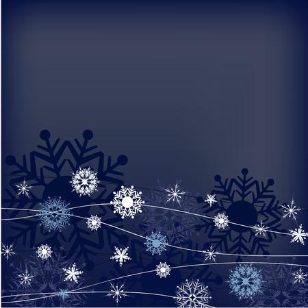 adorn: blanco azul del copo de nieve de ilustraci�n de fondo