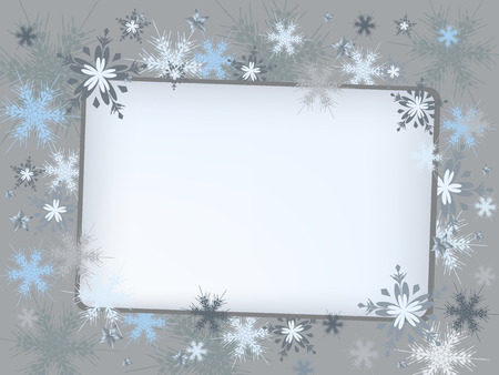 adorning: invitation letter with snowflake adorn