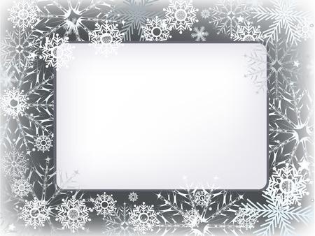 adorn: carta de invitaci�n con copo de nieve adornan