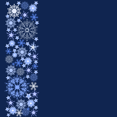 adorn: tarjeta de felicitaci�n de la Navidad con copos de nieve adornan