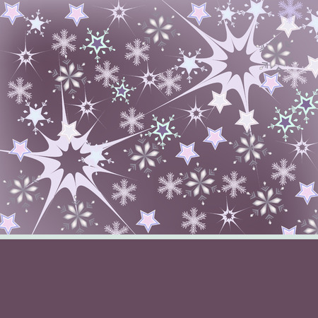 violet background: white snowflakes on violet background