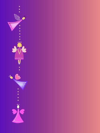 adorn: cute angel illustration greeting card Illustration