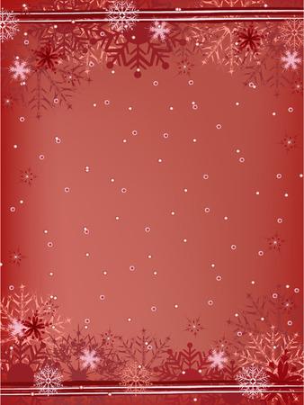 adorn: rojo navidad tarjeta de felicitaci�n ilustraci�n Vectores