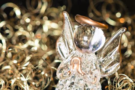 vitreous: little vitreous angel  on golden background