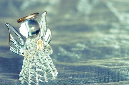 vitreous: little vitreous angel  on blue background